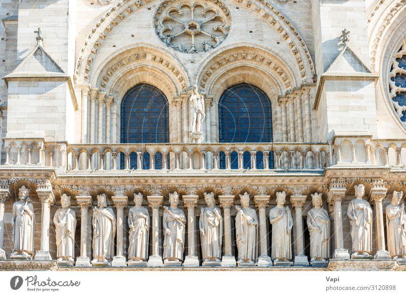 Details an der Fassade der Notre-Dame de Paris Stil Design Ferien & Urlaub & Reisen Tourismus Ausflug Sightseeing Städtereise Sommerurlaub Skulptur Architektur
