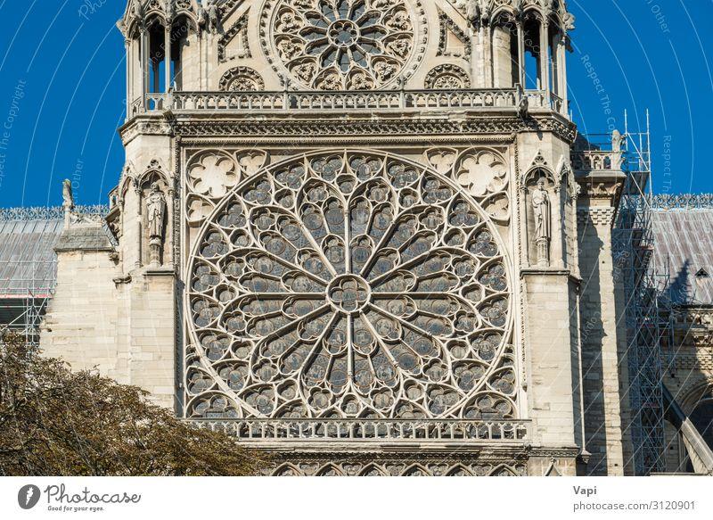 Notre Dame de Paris Stil Design Ferien & Urlaub & Reisen Tourismus Sightseeing Städtereise Sommer Sommerurlaub Dekoration & Verzierung Skulptur Architektur