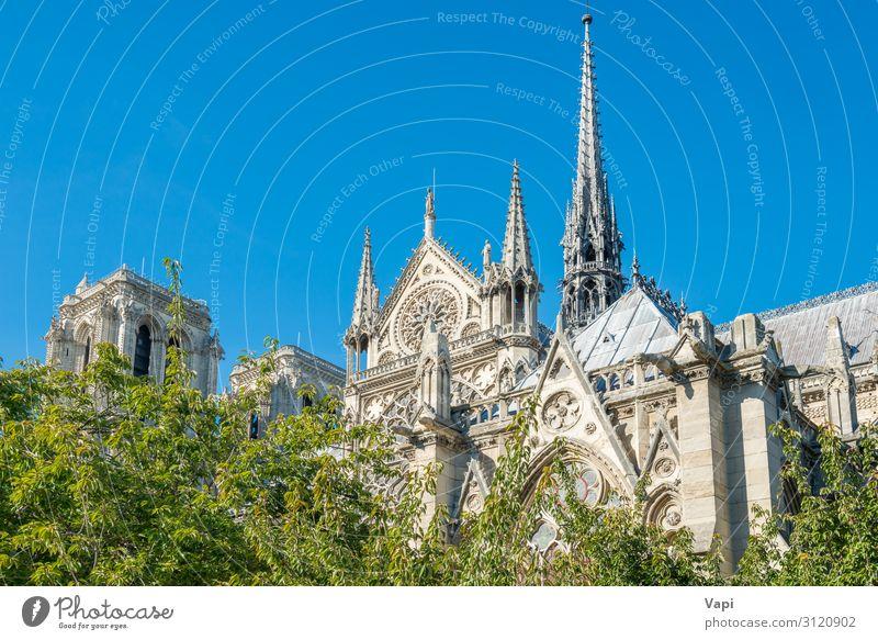 Notre Dame de Paris Stil Ferien & Urlaub & Reisen Tourismus Ausflug Sightseeing Städtereise Sommer Sommerurlaub Museum Skulptur Architektur Kultur Landschaft