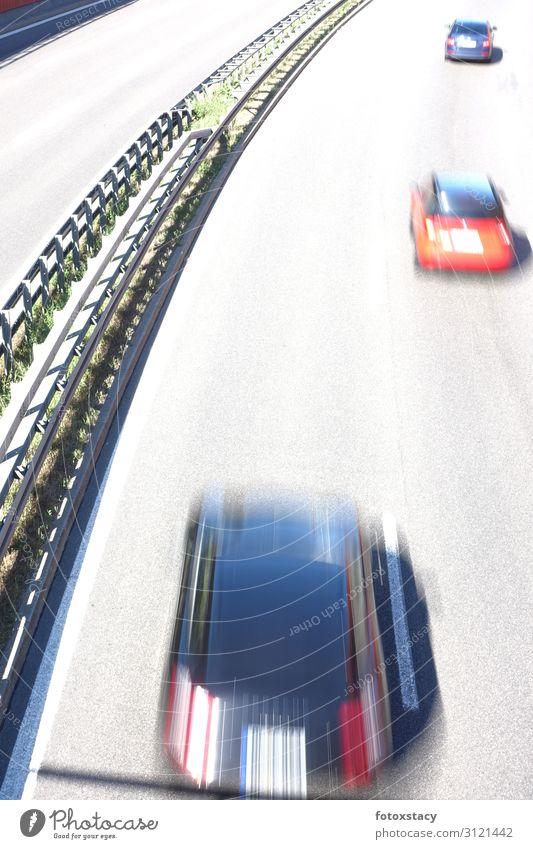 Geschwindigkeitsrausch Lifestyle Verkehr Verkehrsmittel Verkehrswege Autofahren Straße Autobahn Fahrzeug PKW Bewegung Ferien & Urlaub & Reisen ästhetisch