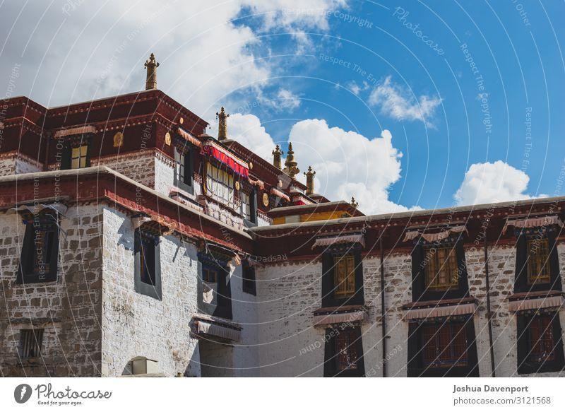 Kloster Drepung Ferien & Urlaub & Reisen Tourismus Ausflug Abenteuer Sightseeing Architektur Sehenswürdigkeit Wahrzeichen Religion & Glaube antik altes Gebäude