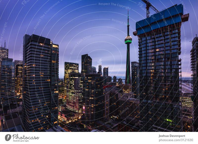 Toronto Stadtlandschaft Ferien & Urlaub & Reisen Tourismus Sightseeing Stadtzentrum Skyline Hochhaus Gebäude Luftbildfotografie Kanada Großstadt