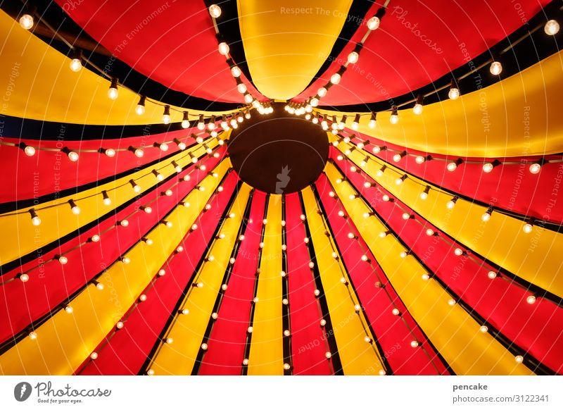 was für ein zirkus Dekoration & Verzierung Lampe Architektur Zirkus Fröhlichkeit hoch gelb rot Farbe Freizeit & Hobby Freude Kindheit Kultur Kunst Mittelpunkt