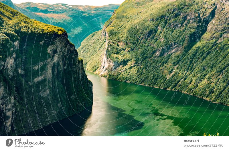 Panorama Norwegen Panorama (Aussicht) Panorama (Bildformat) Weitwinkel Fjord See Fjäll Landschaft seenlandschaft Norweger Skandinavien Poster Leinwand Wolken
