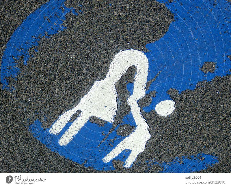 Lieblingsmensch | immer gut festhalten, trotz Kopflosigkeit... Verkehrszeichen Fußgänger Straßenmarkierung Schilder & Markierungen Zeichen Wege & Pfade