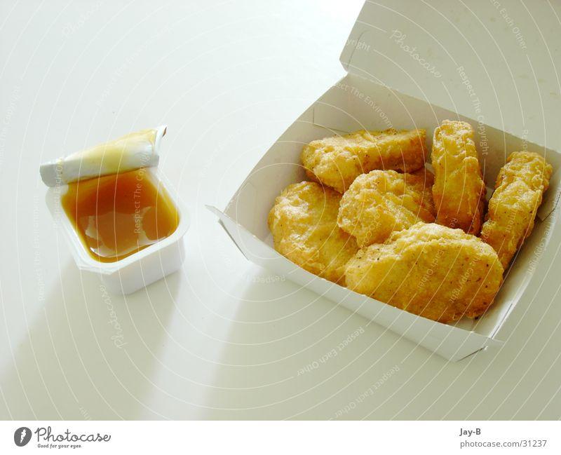 Sonntagsfrühstück Ernährung Lebensmittel süß Restaurant Wut Fett Haushuhn Edelmetall Verpackung Fastfood Hähnchen Fast Food Restaurant Saucen Nuggets süß-sauer