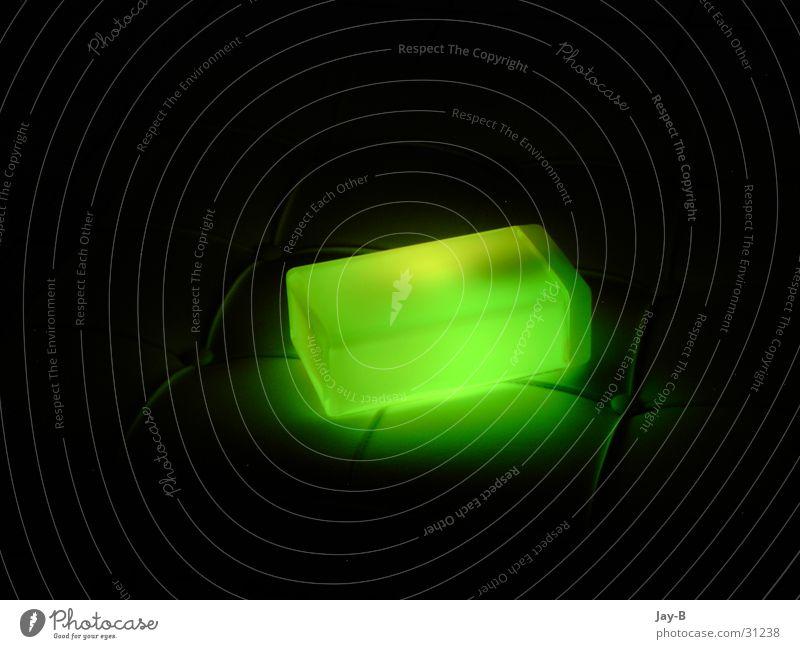 Cube Green Lichtobjekt grün Lavalampe Futurismus Lampe Dinge Würfel Futuristic