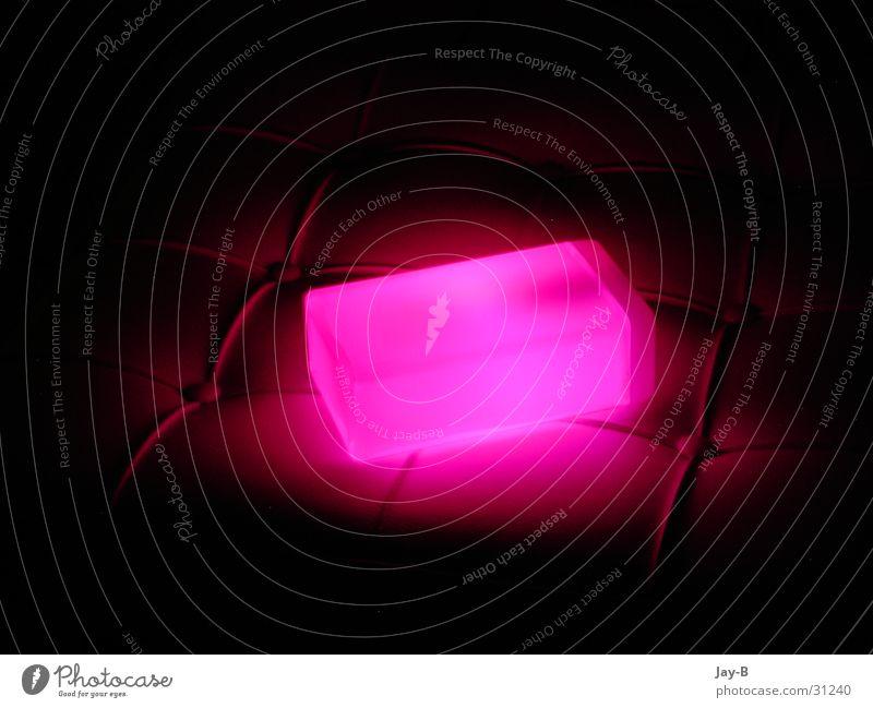 Cube Pink Lampe rosa Dinge Würfel Futurismus Lava Lavalampe Lichtobjekt