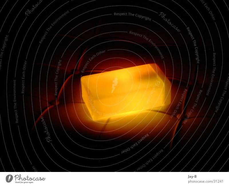 Cube Orange Lichtobjekt Lavalampe Futurismus Lampe Dinge Würfel orange Futuristic