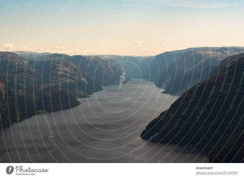 Norwegen Landschaftsfotografie Panorama (Aussicht) Weitwinkel Fjord See Fjäll seenlandschaft Norweger Skandinavien Poster Leinwand Panorama (Bildformat) Wolken
