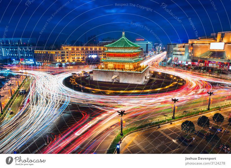 Xi'an Glockenturm Ferien & Urlaub & Reisen Tourismus Sightseeing Kultur Sehenswürdigkeit Verkehr Berufsverkehr Straßenverkehr modern Asien Asien Reisen
