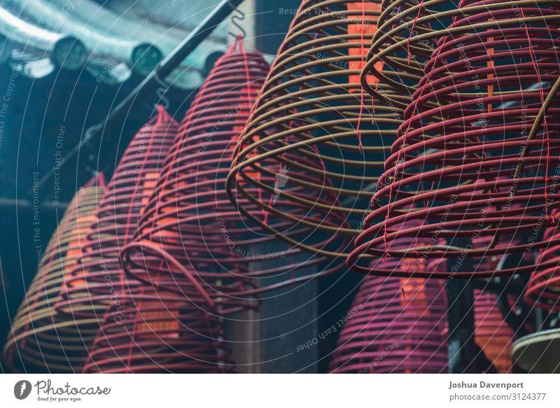 Tempel-Räucherstäbchen Ferien & Urlaub & Reisen Tourismus Sightseeing Religion & Glaube Asien Buddhismus buddhistischer Tempel brennender Weihrauch China
