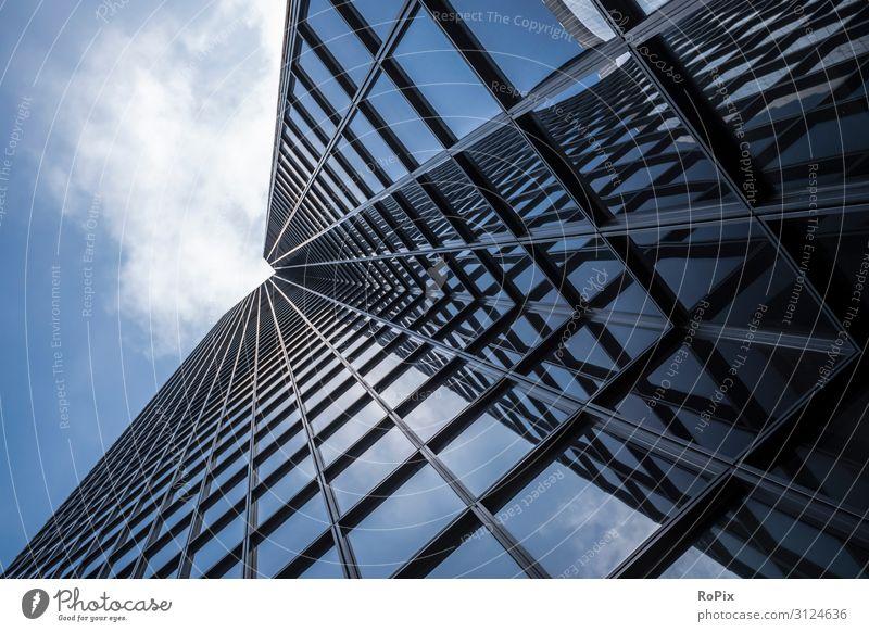 Abstrakte Ansicht eines Wolkenkratzers. Lifestyle Reichtum Design Ferien & Urlaub & Reisen Tourismus Sightseeing Städtereise Arbeit & Erwerbstätigkeit Beruf