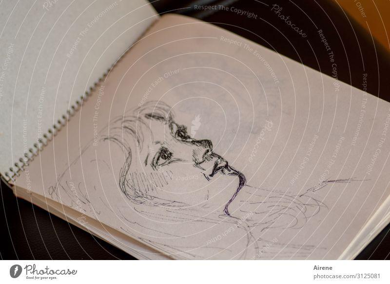Gisela feminin Mädchen Junge Frau Jugendliche Kopf Haare & Frisuren Gesicht 1 Mensch 13-18 Jahre Kunstwerk Zeichenblock Entwurf Zeichnung Porträt zeichnen