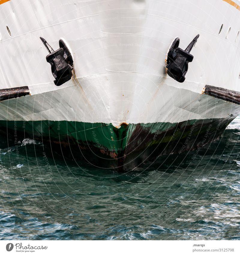 Rackete Güterverkehr & Logistik Wasser Schifffahrt Anker Schiffsbug grün weiß Hilfsbereitschaft Politik & Staat Rettung seenotrettung Flüchtlinge Farbfoto
