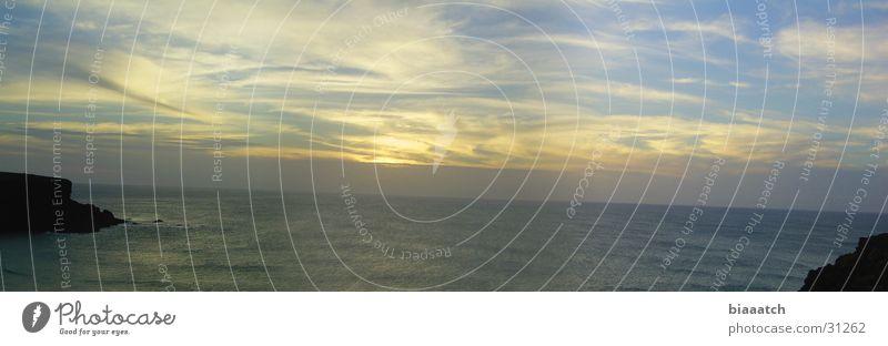 fuerte dusk Wasser Himmel Sonne Meer Strand Wolken Küste Europa Fuerteventura Himmelskörper & Weltall Kanaren