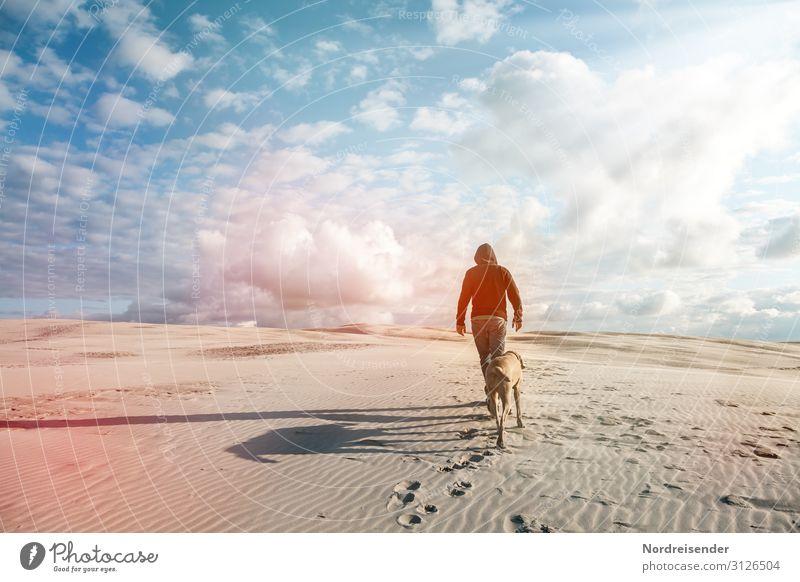 Unterwegs Ferien & Urlaub & Reisen Abenteuer Ferne Freiheit Sonne Strand Meer Landschaft Urelemente Sand Himmel Wolken Sonnenlicht Schönes Wetter Nordsee Ostsee