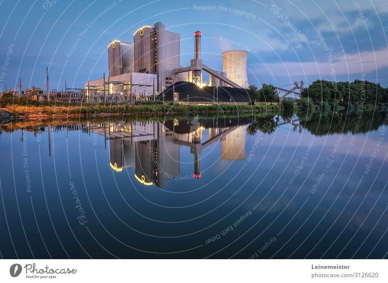 Kraftwerk Stöcken Energiewirtschaft Kohlekraftwerk Industrie Umwelt Wolken Sommer Schönes Wetter Hannover Deutschland Stadt Industrieanlage Bauwerk Architektur