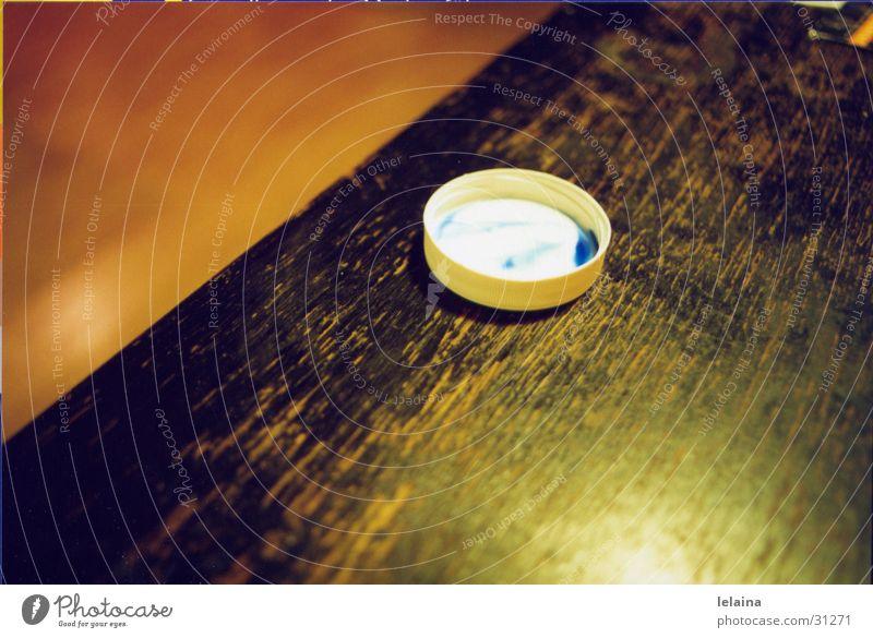 farbdeckel Tisch Physik Fototechnik Anschnitt orange blau Wärme Reflexion & Spiegelung Strukturen & Formen