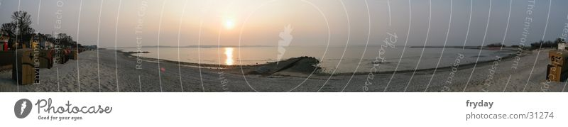 Laboe Strand groß Europa Ostsee Strandkorb Panorama (Bildformat) Kiel Schleswig-Holstein Kieler Förde