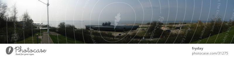 Laboe U-Boot Panorama (Aussicht) Weitwinkel Kieler Förde Denkmal Europa Ostsee U 995 groß Panorama (Bildformat)