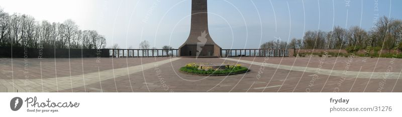 Laboe Marine Mahnmal Panorama (Aussicht) Weitwinkel Denkmal Seemann Europa groß Panorama (Bildformat)
