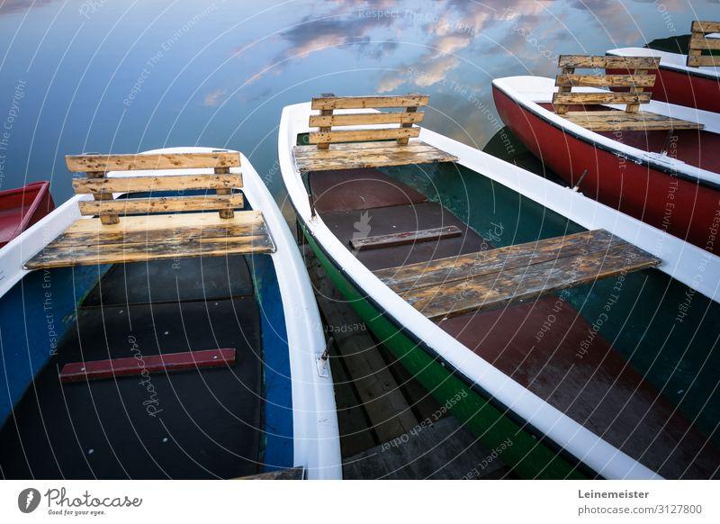 Maschseeboote Freizeit & Hobby Sommer Wassersport Umwelt Wolken Schönes Wetter See Hannover Deutschland Stadt Bootsfahrt Ruderboot blau Niedersachsen Steg