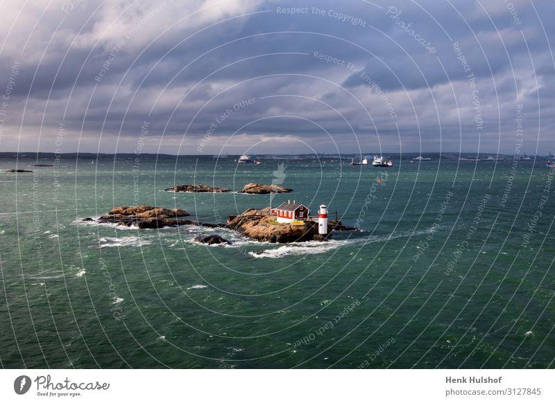 Blick auf die Küste von Göteborg in Schweden Ferien & Urlaub & Reisen Tourismus Ausflug Sightseeing Kreuzfahrt Sommer Sommerurlaub Meer Insel Wellen Umwelt Luft