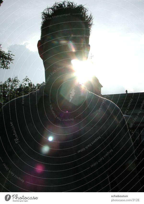 soleil Mensch Sonne Gesicht Typ Blendenfleck Mann Lichtfleck