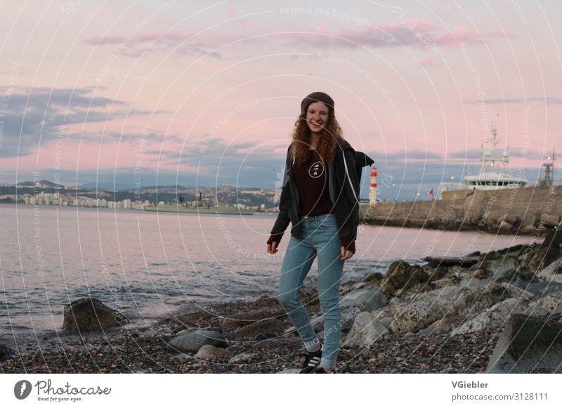 stone(d) Lifestyle Stil Freude Ferien & Urlaub & Reisen Ausflug Abenteuer Ferne Strand Meer Mensch feminin Junge Frau Jugendliche Erwachsene Leben 1 13-18 Jahre