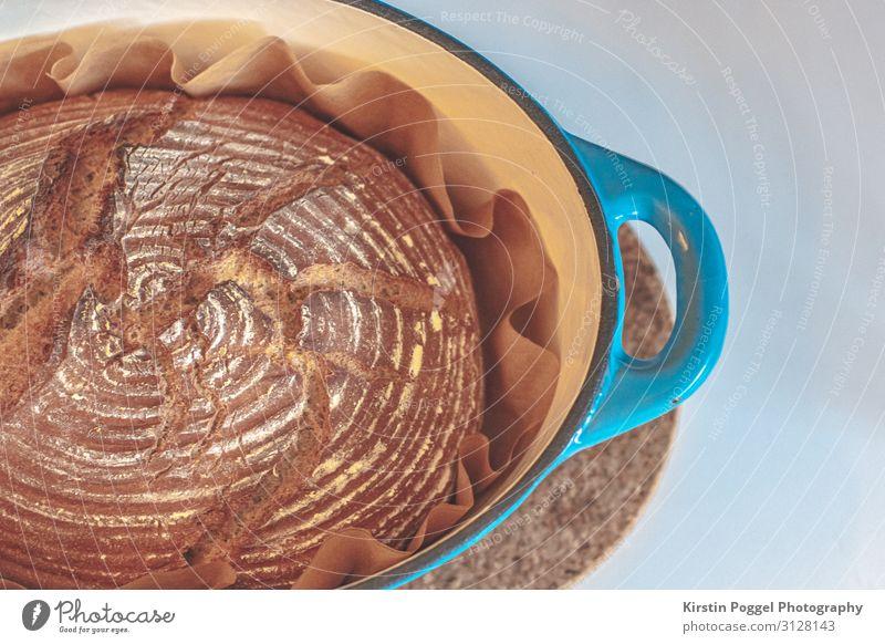 frisches Brot Lebensmittel Teigwaren Backwaren Ernährung Frühstück Abendessen Büffet Brunch Topf Kindheit Farbfoto Innenaufnahme Nahaufnahme Detailaufnahme