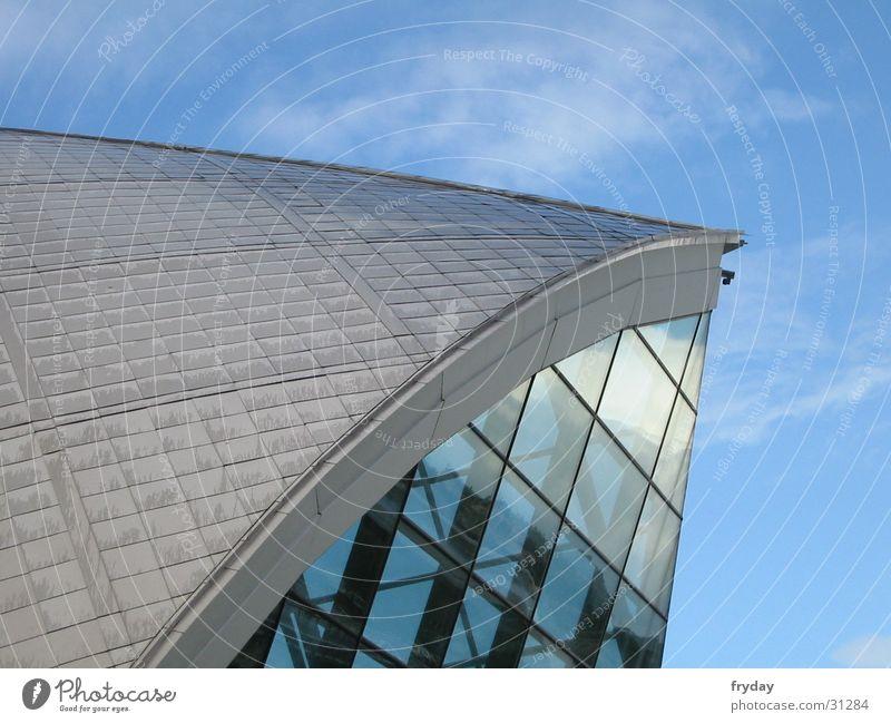 science centre Himmel Wolken Gebäude Metall Architektur Glas Stahl Schottland Glasgow
