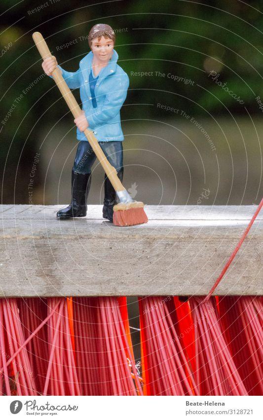 Besenrein Lifestyle Häusliches Leben Wohnung Kehren Arbeitsplatz feminin Garten Arbeitsbekleidung Hose Jacke Arbeit & Erwerbstätigkeit Reinigen außergewöhnlich