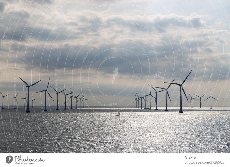 Windräder im Offshore Windpark Lillgrund, Schweden/Dänemark Nordsee Technik & Technologie Erneuerbare Energie Windkraftanlage Energiekrise Umwelt Wasser Himmel