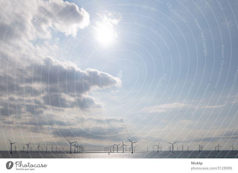 Offshore Windpark Lillgrund, Schweden/Dänemark Nordsee(2) Technik & Technologie Erneuerbare Energie Windkraftanlage Energiekrise Umwelt Wasser Himmel Wolken