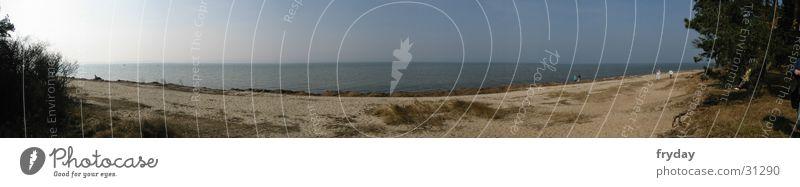 ostsee sticht in see Wasser Meer Küste groß Stranddüne Ostsee Panorama (Bildformat)
