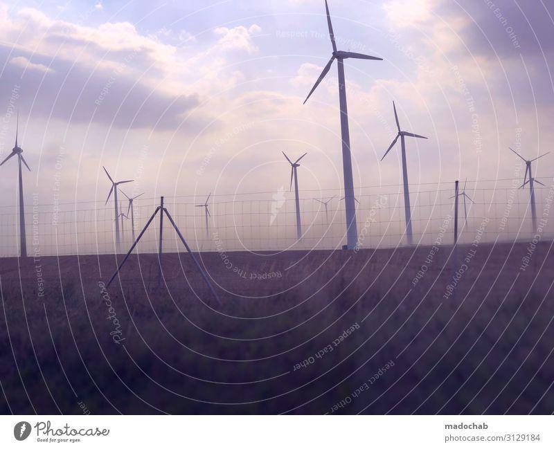 Rebellion entsteht aus Hoffnung. - regenerative Windkraft Energiewirtschaft Erneuerbare Energie Windkraftanlage Umwelt Urelemente Klima Klimawandel