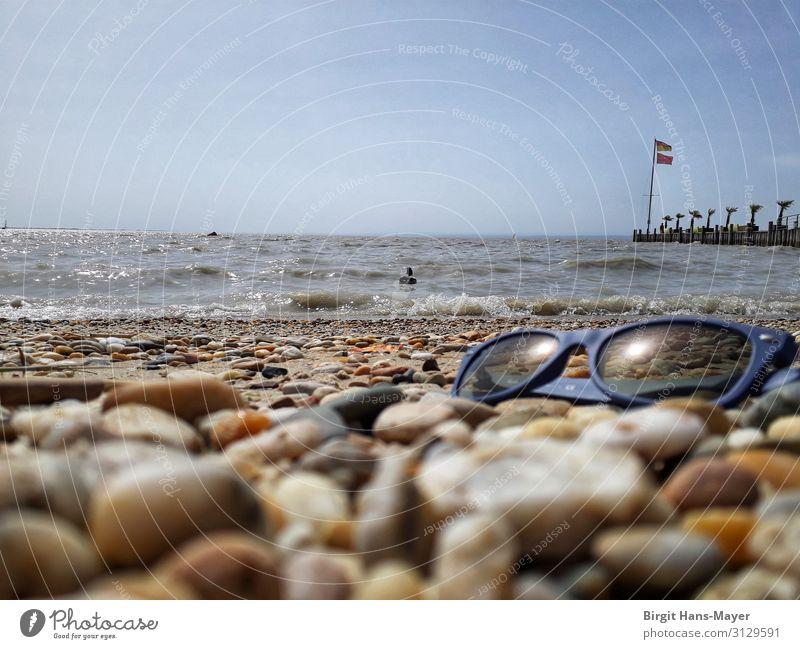Wasser, Wind, Wellen Schwimmen & Baden Ferien & Urlaub & Reisen Tourismus Ausflug Freiheit Sommer Sommerurlaub Sonne Strand Natur Landschaft Wolkenloser Himmel