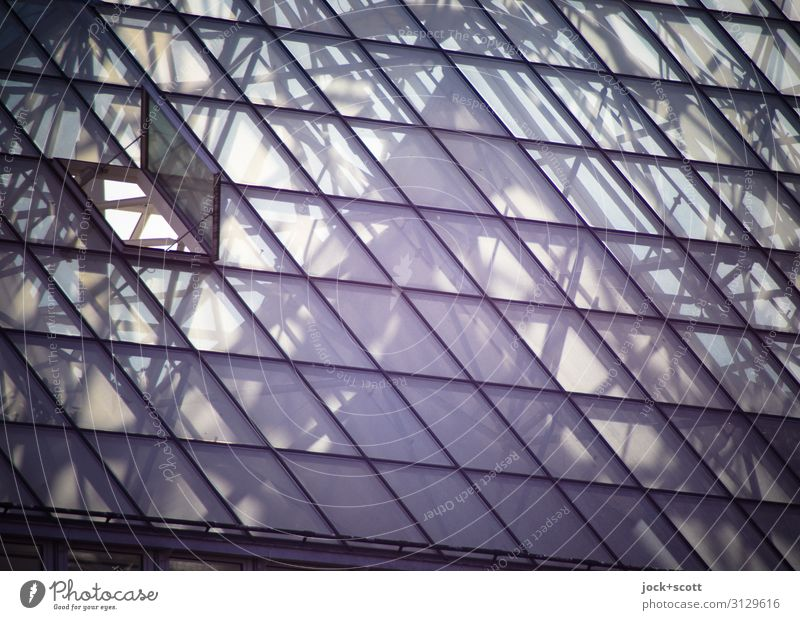 vitreus oben Schönes Wetter Krankenhaus Luke Franken Atrium Glasdach