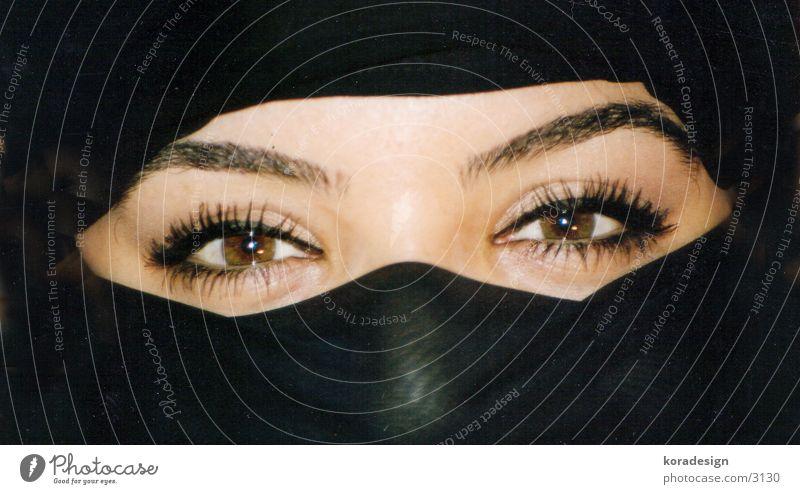 arabien eyes Frau Auge Wimpern Augenbraue Asien verpackt Arabien Gesicht