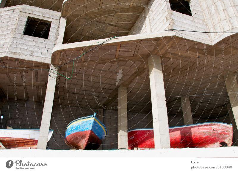 Bootshaus Ferien & Urlaub & Reisen Tourismus Haus Hausbau Baustelle Fischereiwirtschaft Fortschritt Zukunft Ruine Bauwerk Mauer Wand Schifffahrt Fischerboot