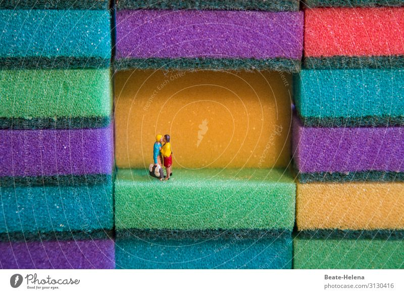 Der Kuss Jugendliche Junge Frau Junger Mann Erholung Liebe Glück Stil Paar außergewöhnlich Zusammensein Design Dekoration & Verzierung Kommunizieren glänzend