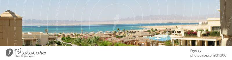 red sea Panorama (Aussicht) Weitwinkel Hotel Ägypten Ferien & Urlaub & Reisen Strand Meer Zufriedenheit Rotes Meer groß Panorama (Bildformat)