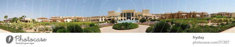 Egyptian Hotel Himmel Strand groß Palme Panorama (Bildformat) Philosophie Ägypten Moral Afrika