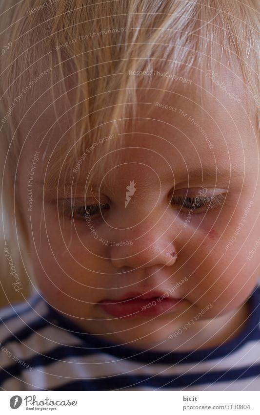 Versunken ins Spiel Kindererziehung Kindergarten Mensch feminin Kleinkind Mädchen Kindheit Kopf beobachten Denken Blick Spielen träumen niedlich Stimmung Glück