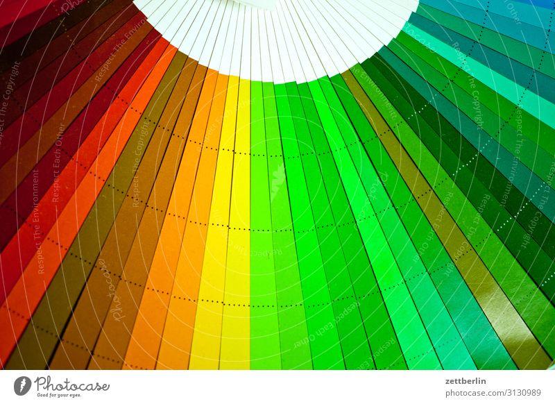Farbfächer (grün und so) mehrfarbig Druck Druckerei Schriftstück Farbe Farbkarte Farbskala Farbbrillianz Farbwert Farbenspiel Farbverlauf kalibrierung