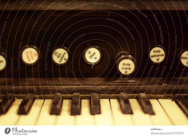 oktavkoppel Harmonium Orgel Tasteninstrumente Musikinstrument Klaviatur alt Nostalgie verstaubt Oktavkoppel Vox jubilans Unda maris wurmstichig Anordnung