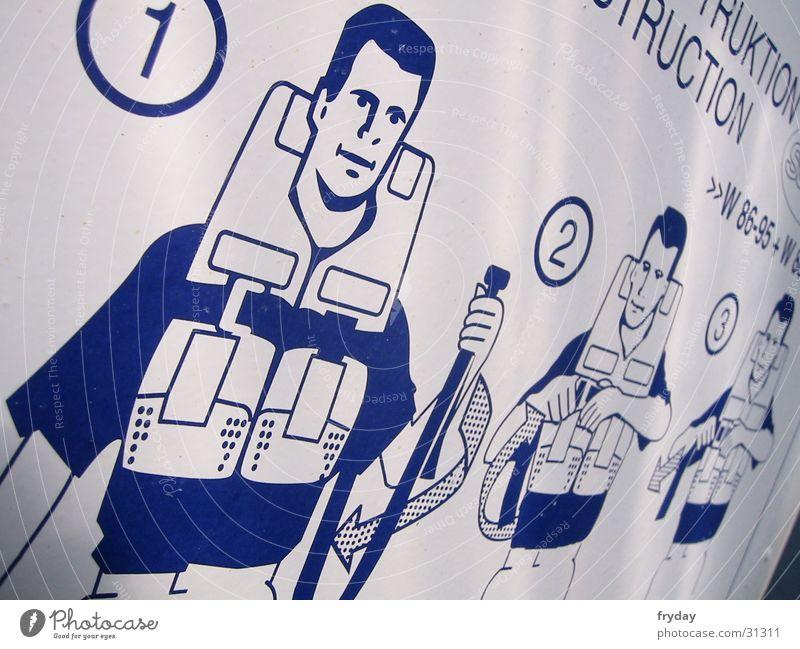 Schwimmkurs Mann Wasser planen Schilder & Markierungen Dinge Hinweisschild Rettung Warnhinweis Schwimmweste