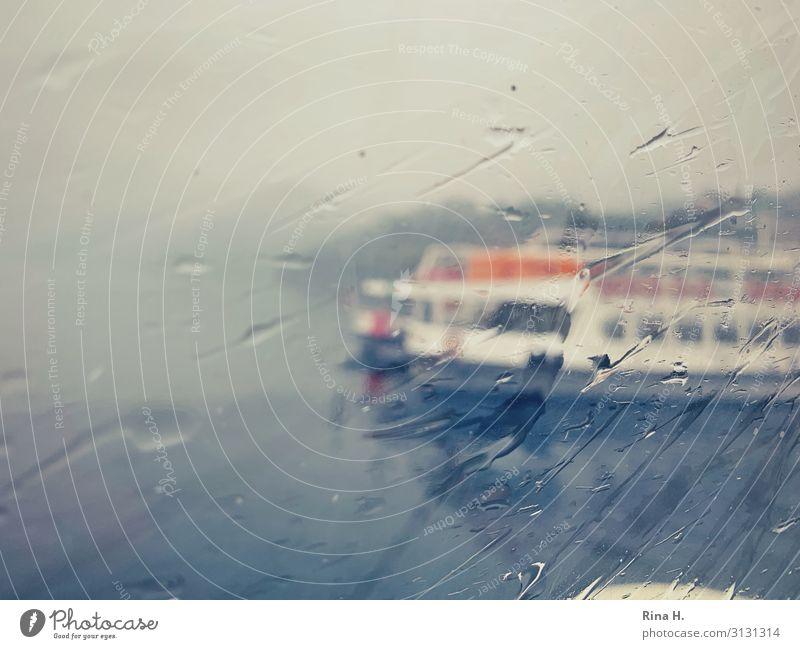 Regen Ferien & Urlaub & Reisen Lifestyle kalt See Ausflug Wetter Klima Fensterscheibe Klimawandel schlechtes Wetter Bootsfahrt Binnenschifffahrt Passagierschiff