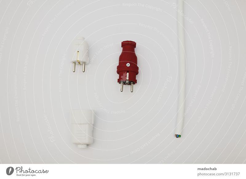 Power sockets - Energie Strom Stecker Kabel modern Energiewirtschaft Technik & Technologie Ordnung Zukunft Elektrizität Zeichen planen Kontrolle Krise